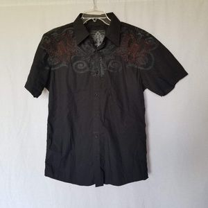 Roar men's button down embroidered shirt size M.